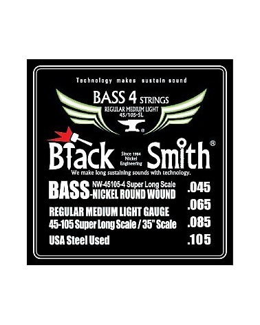 BLACK SMITH NW45105-4 BG STANDARD MEDIUM LIGH BASS STRING