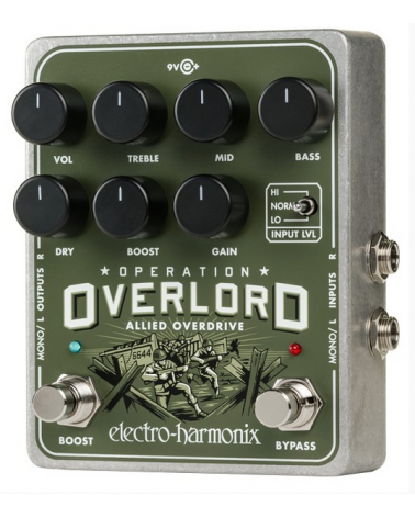 EHX OPERATION OVERLORD OVERDRIVE 9V TRAFO INC