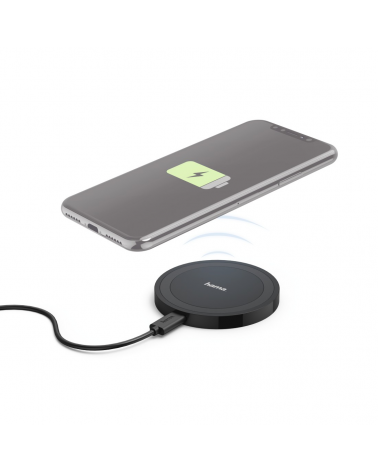 Cargador Inalambrico Qi HAMA Wireless Charger for Smartphones 173674