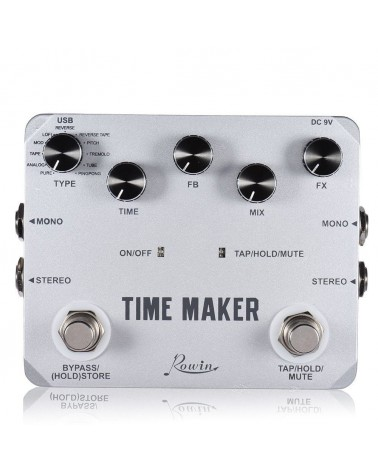 ROWIN DELAY TIMEMAKER, 11 DELAYS, 4S DELAY, TAP/TEMPO/MUTE/HOLD USB