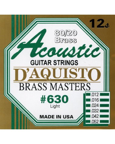 DAQUISTO 630 ACOUSTIC BRASS CUERDAS 12/52