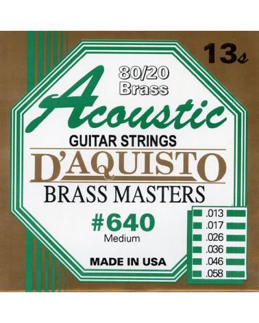 DAQUISTO 640 CUERDA ACUSTICA BRASS 13/58