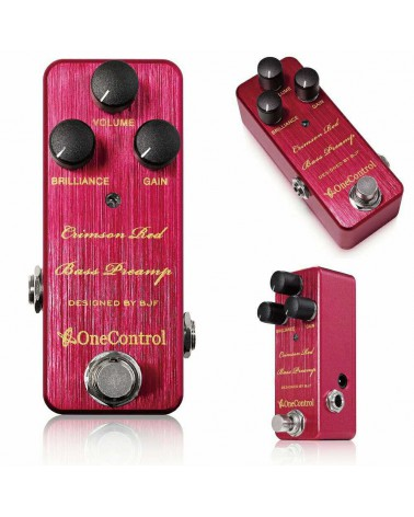 BASS PREAMP ONE CONTROL CRIMSON RED