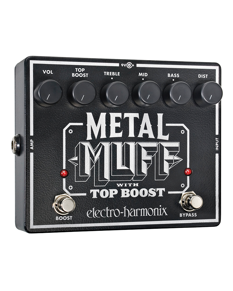 EHX METAL MUFF Distortion with Top Boost Battery included, 9.6DC-200 PSU optional