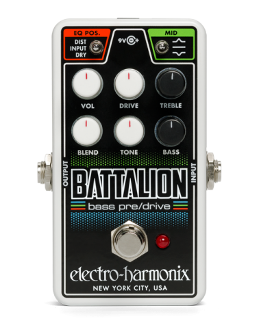 EHX NANO BATTALION Bass Preamp/Overdrive, 9.6DC-200 PSU Included