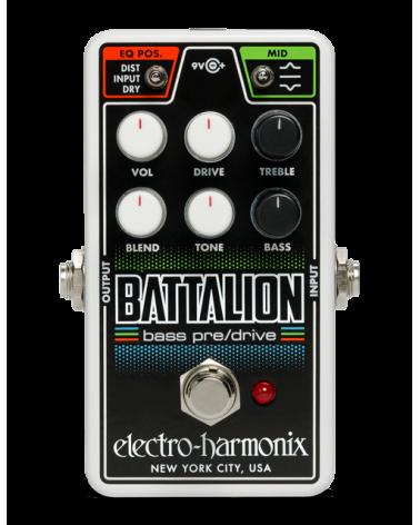 EHX NANO BATTALION Bass Preamp/Overdrive, 9.6DC-200 PSU Included